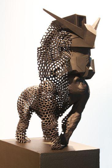 Oeuvre de Frédéric MOLENAC, Frittage PA noir